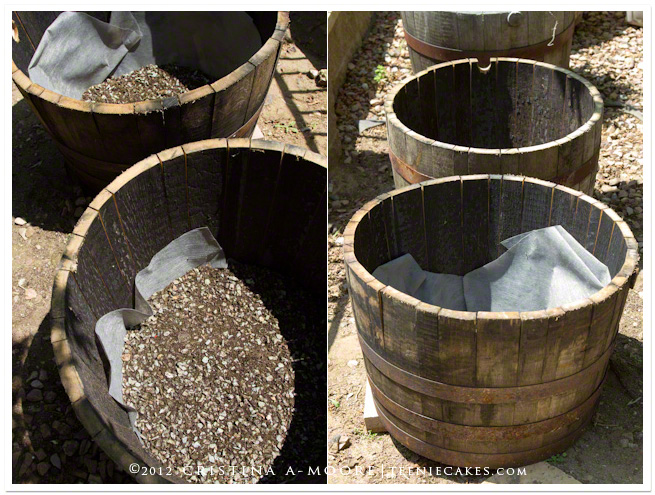 Container Gardening - Recycled Oak Wine Barrels