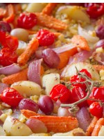 Quick & Healthy: Parmesan Roasted Vegetables, Grapes & Rosemary