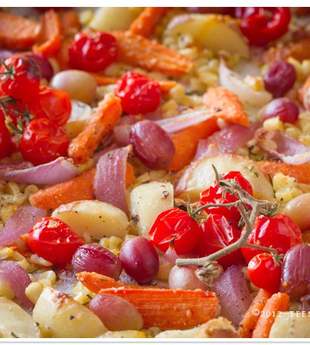 Quick & Healthy: Parmesan Roasted Vegetables with Rosemary recipe | TeenieCakes.com