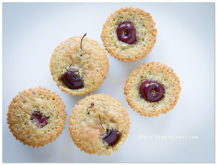 Cherry-Pistachio Tea Cakes recipe | TeenieCakes.com