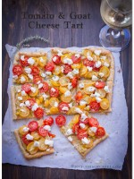 Tomato and Goat Cheese Tart with Leeks