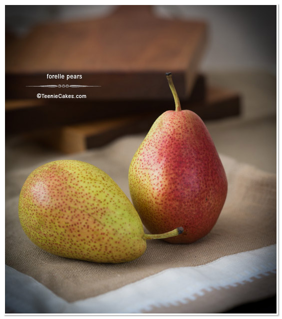 Two Forelle Pears photography   TeenieCakes.com