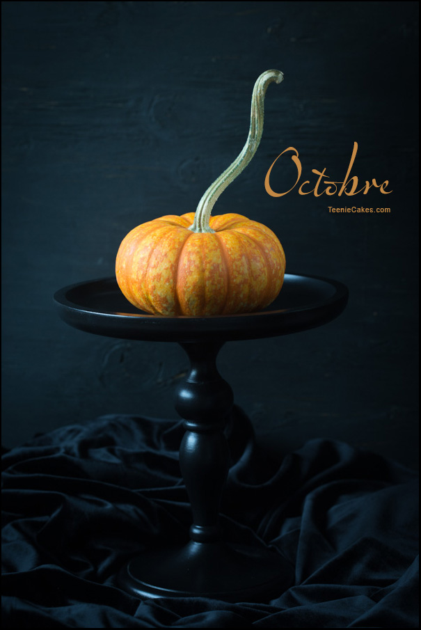 Octobre - It's the Great Pumpkin ...  (in French) | Cristina A-Moore Photography for TeenieCakes.com