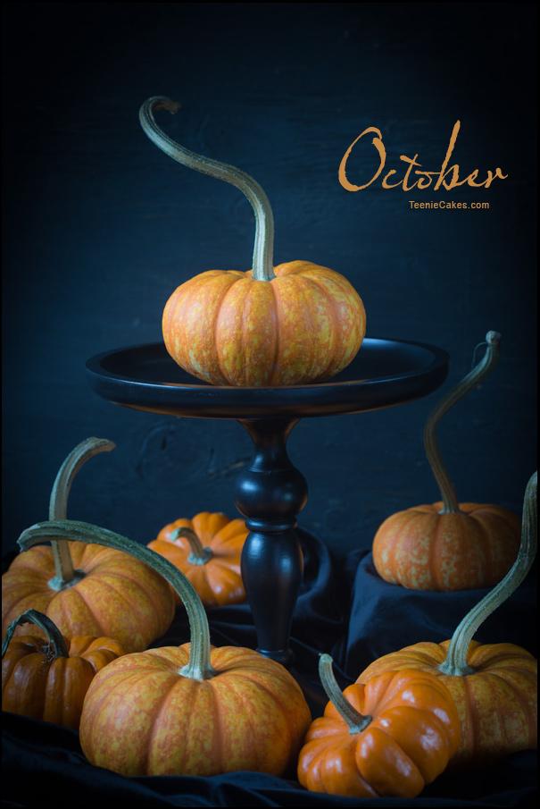 October - It's the Great Pumpkin... | Cristina A-Moore Photography for TeenieCakes.com