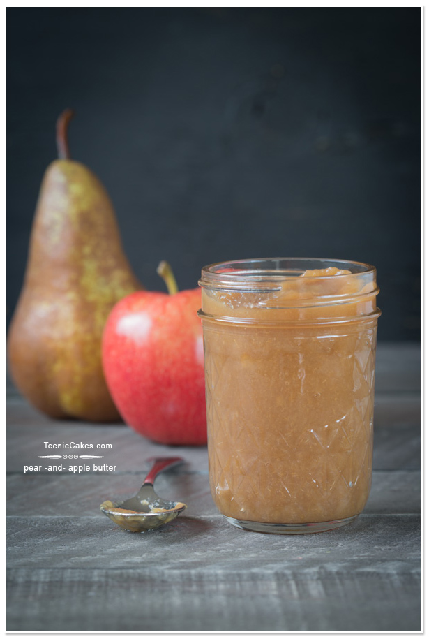 Pear and Apple Butter recipe | TeenieCakes.com