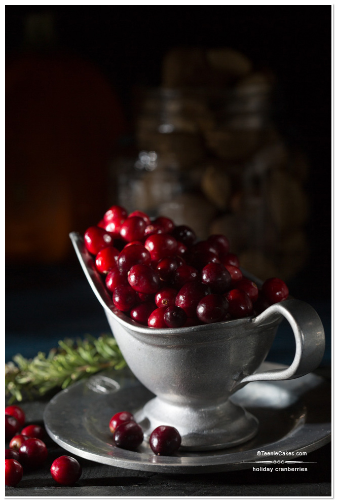 Holiday Cranberries photography | Cristina A-Moore Photography for TeenieCakes.com
