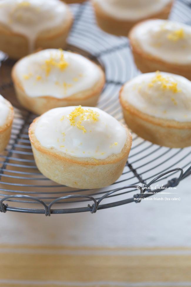 Meyer Lemon Friands recipe - Tea Cakes | TeenieCakes.com