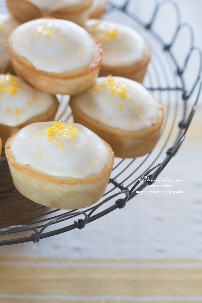 Meyer Lemon Friands recipe - Tea Cakes | TeenieCakes.com