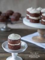 Mini Chocolate Zucchini Carrot Cakes w/Cream Cheese Cinnamon, Ginger Topping