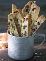 Cranberry, Pistachio Biscotti (Cantuccini)