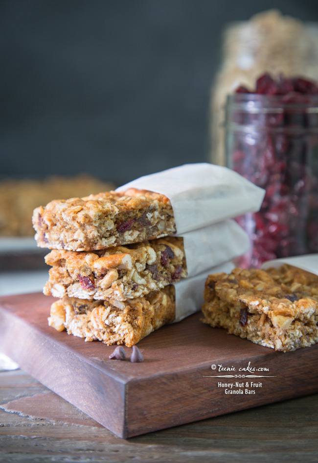 Chewy Honey-Nut & Fruit Granola Bars recipe