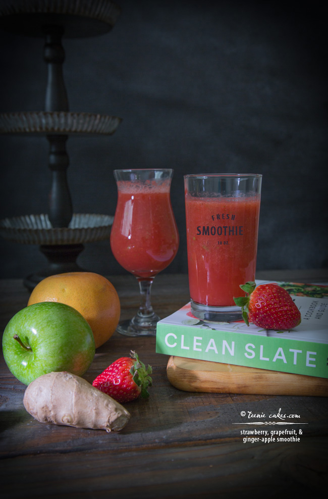 Strawberry, Grapefruit, & Ginger-Apple Smoothie - Clean Slate Cookbook