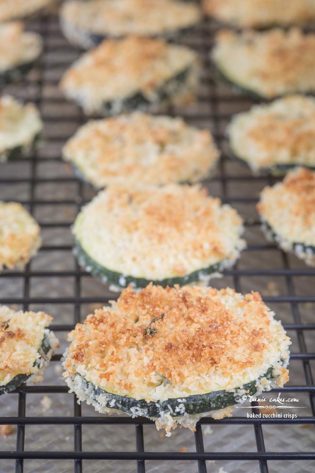 Baked Zucchini Crisps recipe - TeenieCakes.com