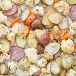 Easy Roasted Parmesan Herbed Potatoes and Cauliflower - TeenieCakes.com