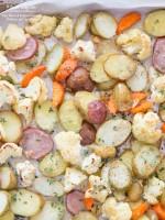 Easy Roasted Parmesan Herbed Idaho® Potatoes and Cauliflower