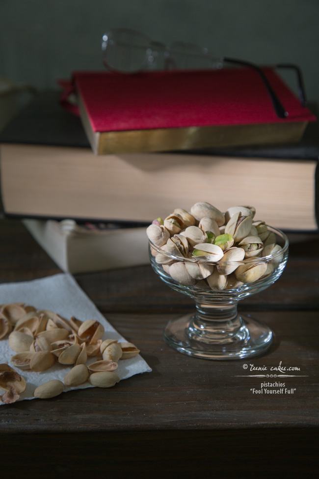"Pistachios ""Fool Yourself Full"" - TeenieCakes.com"