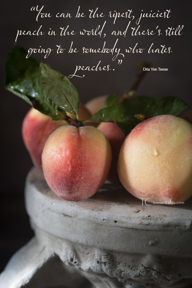 Babcock Peaches - Dita Von Teese quote