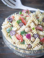 Greek Pasta Salad with Rotini and Feta