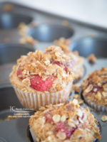 Roasted Strawberry, Olive Oil & Crumb-Topped Muffins