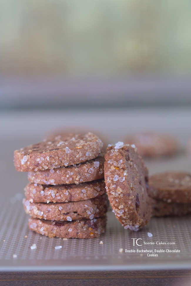 Dorie's Double-Buckwheat, Double-Chocolate Cookies & OXO Non-Stick Cookie Sheet