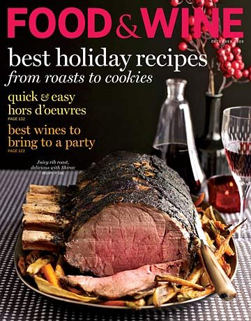 December 2009 Food and Wine Magazine